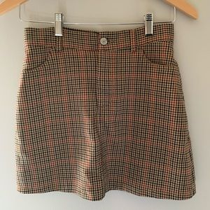 plaid brandy skirt
